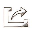 Share upload symbol with arrow vector image vector image