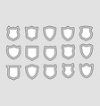 shields outline badges vector image vector image
