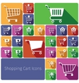 Shopping cart icons set flat vector image vector image