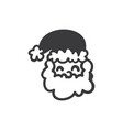 smiling santa claus icon vector image