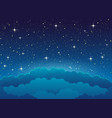 starry sky and clouds vector image