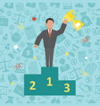 success business concept vector image vector image
