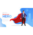 superhero motivate poster with businessman in red vector image