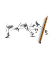 teamwork concept hand drawn isolated vector image