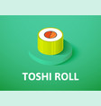 toshi roll isometric icon isolated on color vector image