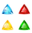 Trilliant Shaped Gems set vector image vector image