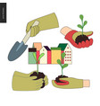 urban farming and gardening hands set vector image