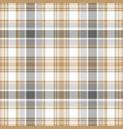 gold gray white check fabric texture seamless vector image