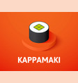 kappamaki isometric icon isolated on color