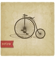 Vintage background with bicycle vector image