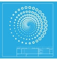 Abstract technology circles sign White section of vector image vector image