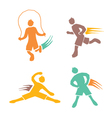 Active boys fitness sports set 4 vector image vector image