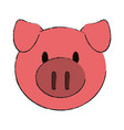 animal face cartoon icon image vector image