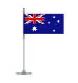 australian flag on the metallic pole vector image vector image
