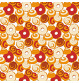 bakery seamless pattern with buns and vector image