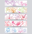 banners with flower vector image vector image