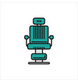 barber chair simple icon on white background vector image vector image