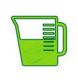 beaker sign lemon scribble icon on white vector image