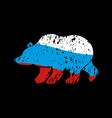 bear russia flag emblem national traditional vector image vector image