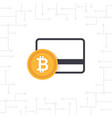 bitcoin payment in flat design vector image vector image
