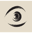 Black frightened eye vector image vector image