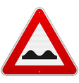 Bumpy Road Sign vector image vector image