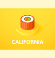 california isometric icon isolated on color vector image