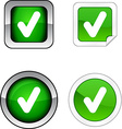 Check button set vector image
