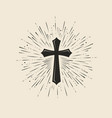christianity symbol jesus christ cross vector image