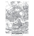 city map rotterdam travel poster design vector image vector image