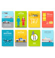 coast guard thin line brochure cards set guarding vector image vector image