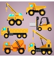 construction machinery set vector image