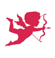 cupid silhouette happy valentine s day design vector image