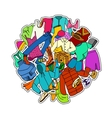 Doodle Cloth Collection vector image