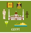 Egypt travel landmarks and symbols vector image vector image