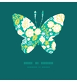 emerald flowerals butterfly silhouette vector image