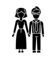 family woman and man icon vector image vector image