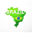 flag maps of Brazil vector image