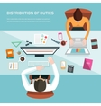 for office workers vector image vector image