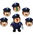 funny cartoon policeman vector image
