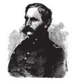 general christopher c augur vintage vector image vector image