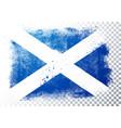 grunge flag scotland vector image vector image