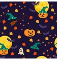 Halloween seamless pattern with holiday objects vector image vector image