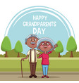 happy grandparents day card vector image vector image