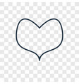 heart concept linear icon isolated on transparent vector image vector image