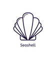 icon of seashell on a white background vector image vector image