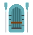 Inflatable boat icon flat style vector image vector image