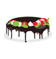 isolated cake vector image
