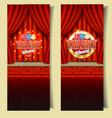 kids tv talent show banner template set vector image vector image