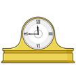 mantel clock vector image vector image